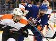 Islanders' Andrew Ladd skates against Philadelphia Flyers defenseman