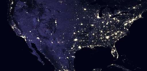 This composite image of North America in 2016