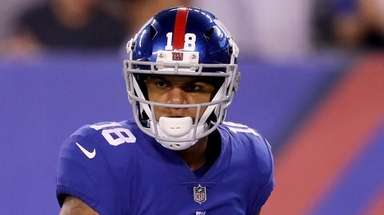 Roger Lewis Jr.#18 of the New York Giants