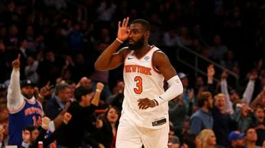 Tim Hardaway Jr. #3 of the New York