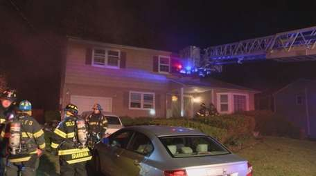 Two people suffered smoke inhalation in a fire