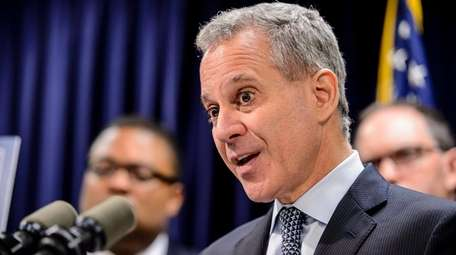 State Attorney General Eric Schneiderman at his office