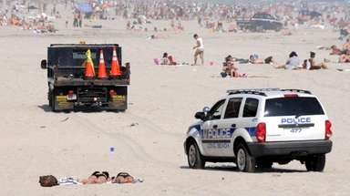The Long Beach police vehicle that struck a