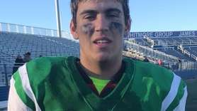 Seaford senior two-way lineman Andrew Chirico spoke after