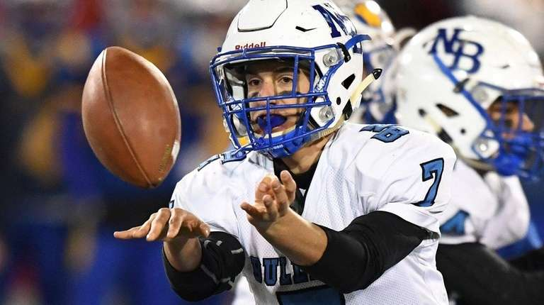 North Babylon quarterback Ross Tallarico pitches the ball