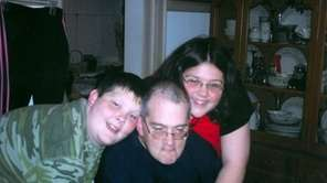 Mike Henley and with his children, Brandon and