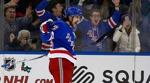 Mats Zuccarello after he scored the winning goal