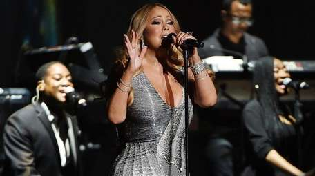 Mariah Carey at Madison Square Garden on Aug.
