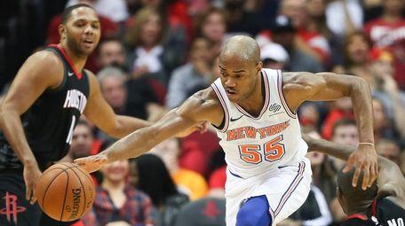New York Knicks guard Jarrett Jack (55) grabs
