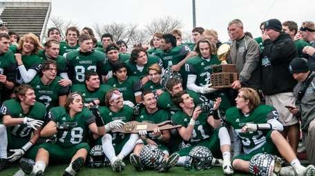 Westhampton players get ready to take the trophy