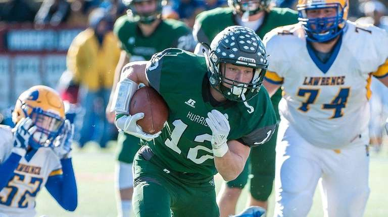 Westhampton's Dylan Laube scored six touchdowns and ran