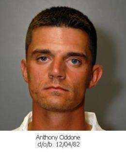 Police mug shot of Anthony Oddone, 25, of
