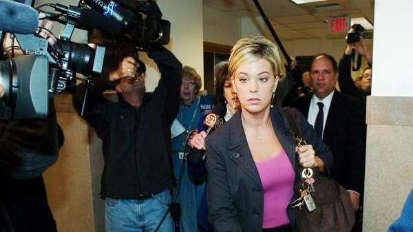 Kate Gosselin, right, from the reality TV show,