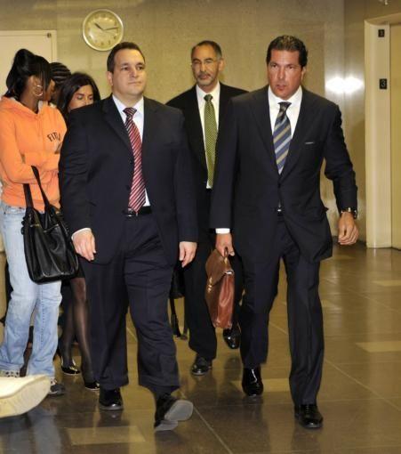 Hiram Monserrate, left, and his attorney, Joseph Tacopina,