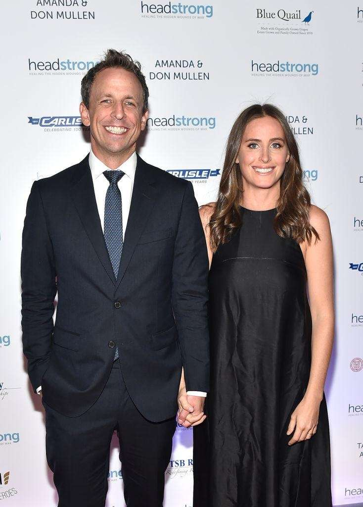 Seth Meyers and his wife Alexi Ashe welcomed