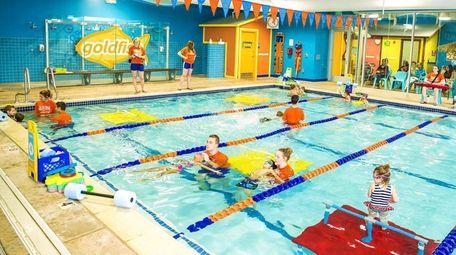 Lessons at Goldfish Swim School's new location in