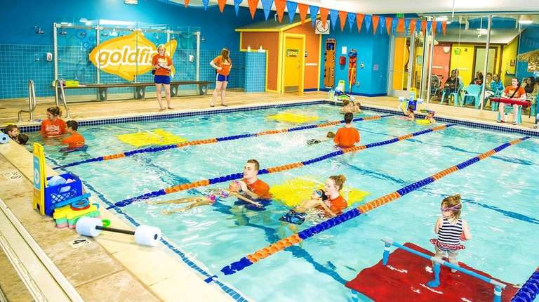 Lessons at Goldfish Swim School's new location in