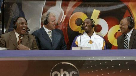 Steve Jones, left, Bill Walton, Kobe Bryant and