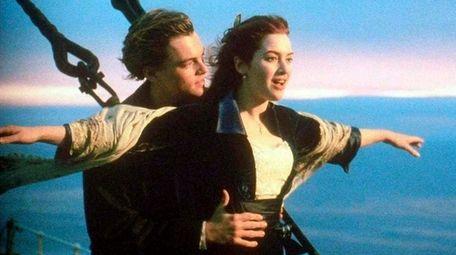 Leonardo DiCaprio and Kate Winslet in a scene