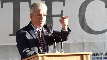 Suffolk County Executive Steve Bellone, seen on Nov.