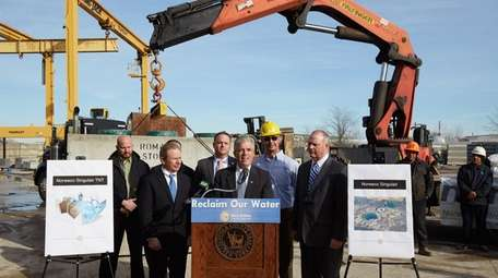 Suffolk County Executive Steve Bellone announces the provisional