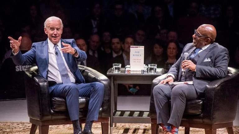 Former Vice President Joe Biden speaks with Al