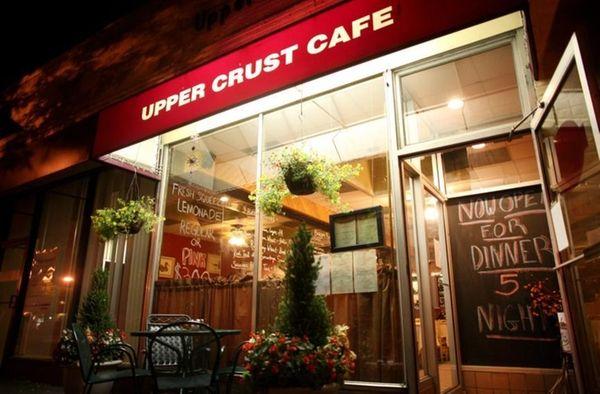 The exterior of Upper Crust Cafe in Garden