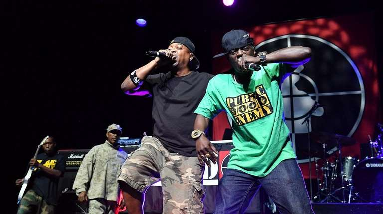 Chuck D and Flavor Flav of Public Enemy.