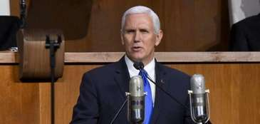 Vice President Mike Pence at the Queens Museum