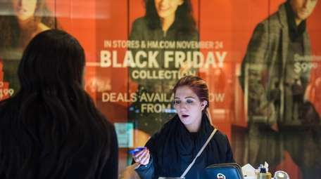 Jessica Chase of Elmont shops at Green Acres