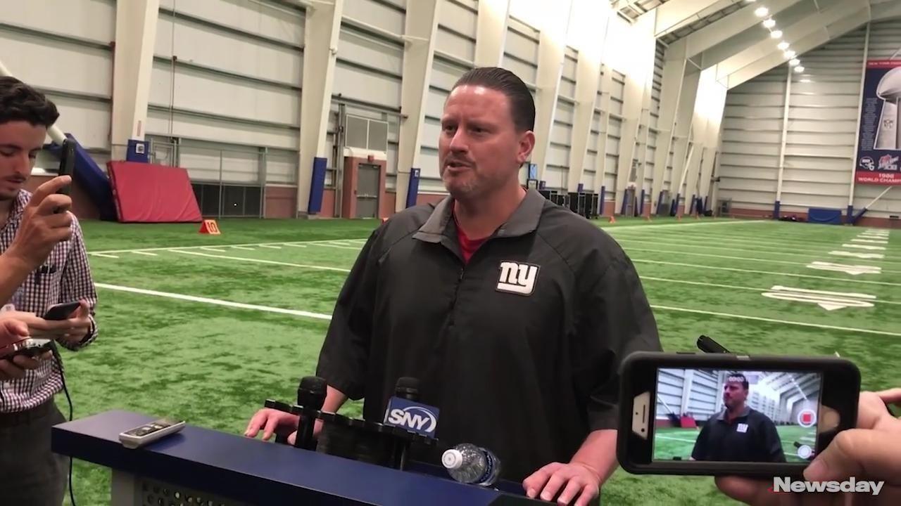 Giants head coach Ben McAdoo announced on Tuesday,