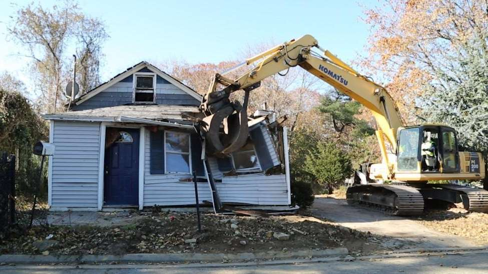 The Town of Oyster Bay demolished two