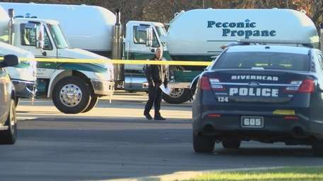 Riverhead police investigate a fatal accident at