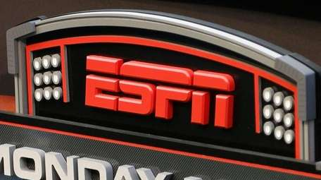 The ESPN logo prior to an NFL game between