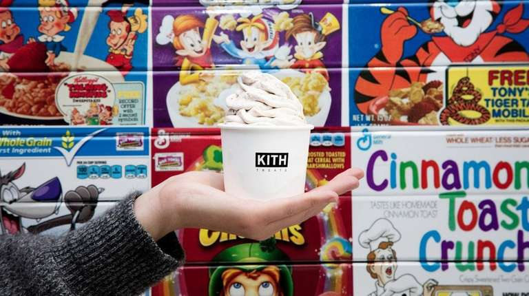 An ice cream swirl at Kith Treats at