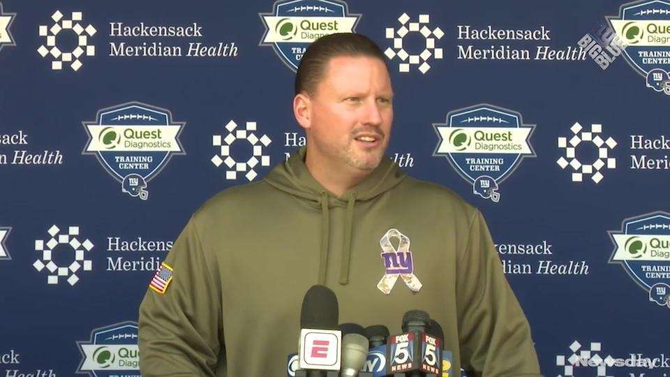 Giants head coach Ben McAdoo addressed the media