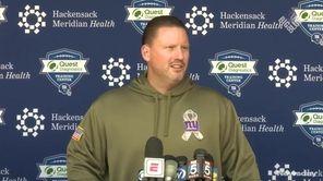 Giants head coach Ben McAdoo addressed the media