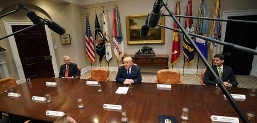 President Donald Trump, Senate Majority Leader Mitch McConnell,