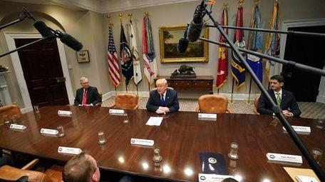 President Donald Trump, Senate Majority Leader Mitch McConnell,