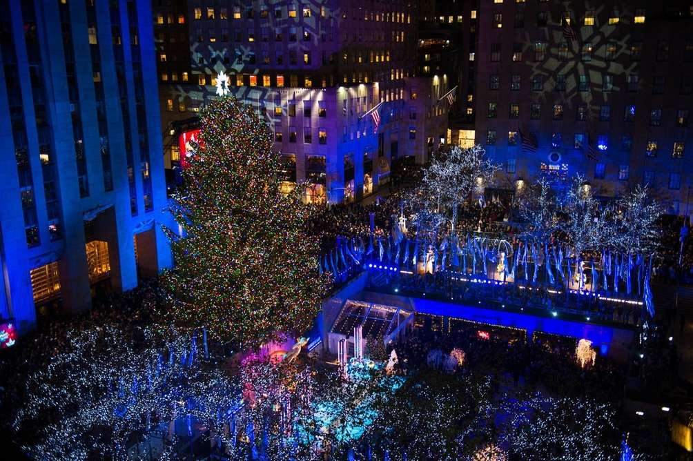 Rockefeller Center and its famous Christmas tree are