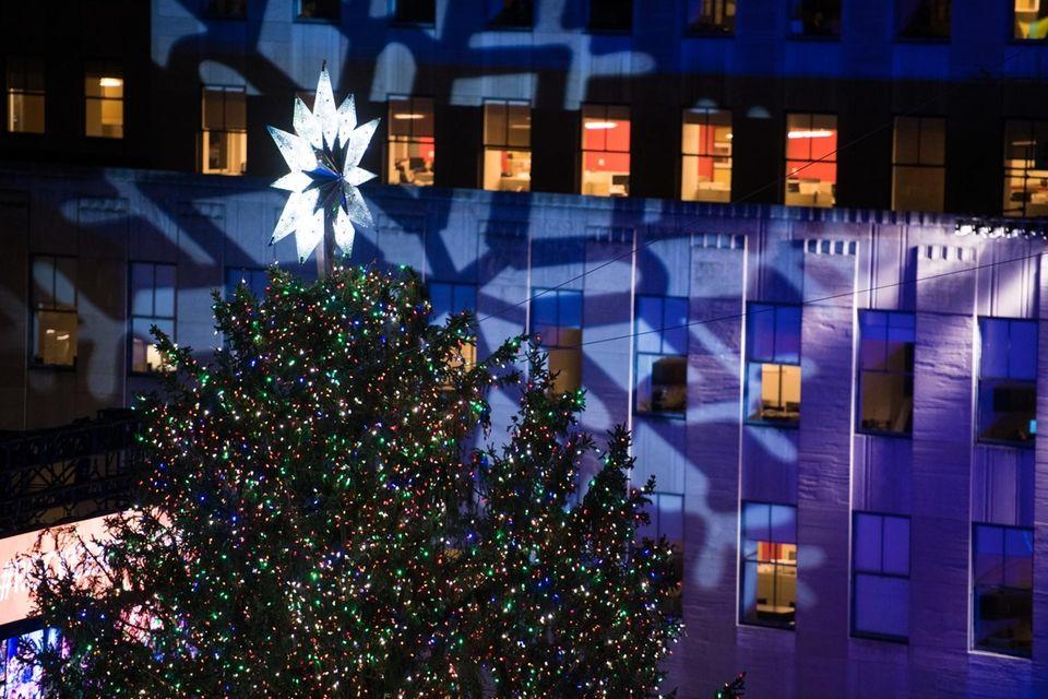 Rockefeller Center Christmas tree was lit for the