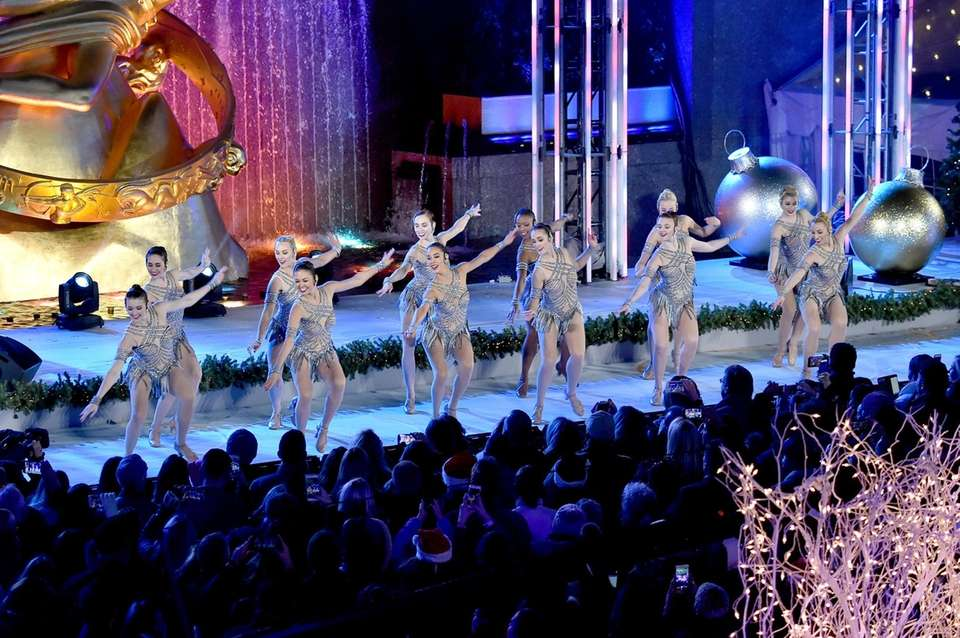 The Rockettes perform during the Rockefeller Center Christmas