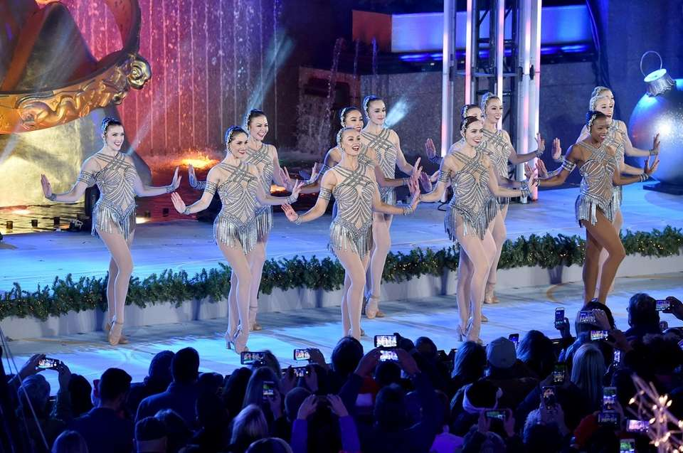 The Rockettes perform during the 85th Rockefeller Center