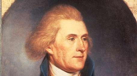 A Thomas Jefferson painting by Charles Wilson Peale