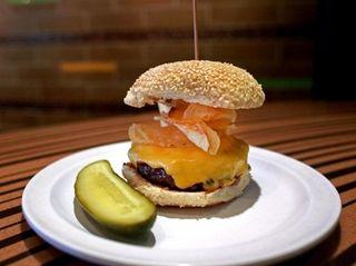 The crunch burger at Bobby's Burger Palace at