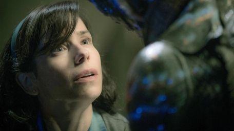 Sally Hawkins is entranced by an undersea creature