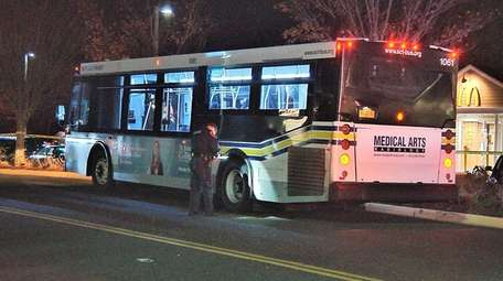 A Suffolk County Transit bus hit a girl