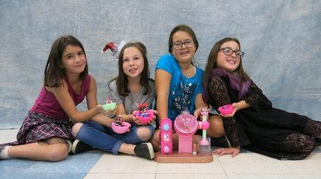 Kidsday reporters, from left, Abigail Werner, Julia Benasutti,