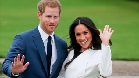 Britain's Prince Harry and his fiancee, Meghan Markle,