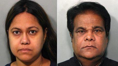 Anna Khaled, 42, and Mohammed Aziz, 61, stole